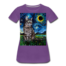 Load image into Gallery viewer, Tabby Night Women's Premium T-Shirt - purple