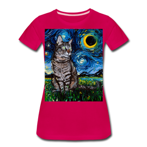 Tabby Night Women's Premium T-Shirt - dark pink