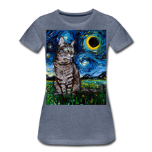 Load image into Gallery viewer, Tabby Night Women's Premium T-Shirt - heather blue