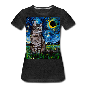 Tabby Night Women's Premium T-Shirt - charcoal gray