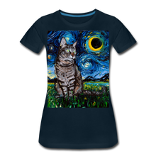 Load image into Gallery viewer, Tabby Night Women's Premium T-Shirt - deep navy