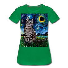 Load image into Gallery viewer, Tabby Night Women's Premium T-Shirt - kelly green