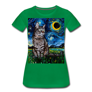 Tabby Night Women's Premium T-Shirt - kelly green