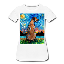 Load image into Gallery viewer, Rhodesian Ridgeback Night Women's Premium T-Shirt - white