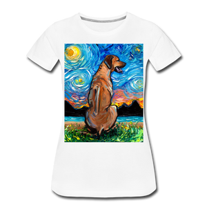 Rhodesian Ridgeback Night Women's Premium T-Shirt - white