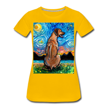 Load image into Gallery viewer, Rhodesian Ridgeback Night Women's Premium T-Shirt - sun yellow