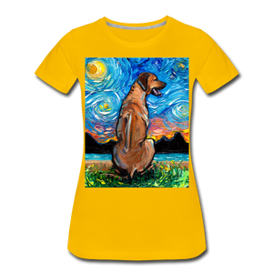 Rhodesian Ridgeback Night Women's Premium T-Shirt - sun yellow