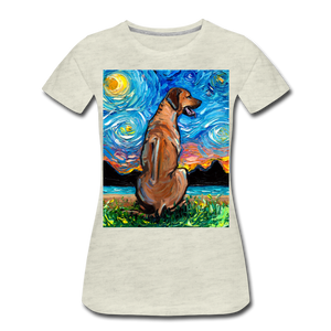 Rhodesian Ridgeback Night Women's Premium T-Shirt - heather oatmeal