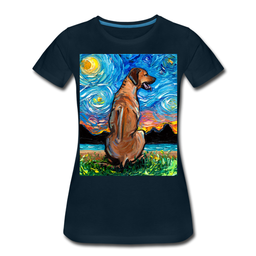 Rhodesian Ridgeback Night Women's Premium T-Shirt - deep navy