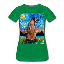 Load image into Gallery viewer, Rhodesian Ridgeback Night Women's Premium T-Shirt - kelly green