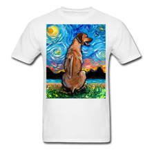 Load image into Gallery viewer, Rhodesian Ridgeback Night Unisex Classic T-Shirt - white