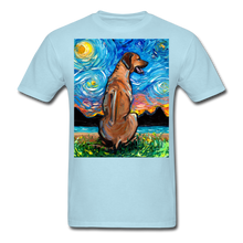 Load image into Gallery viewer, Rhodesian Ridgeback Night Unisex Classic T-Shirt - powder blue