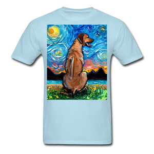Rhodesian Ridgeback Night Unisex Classic T-Shirt - powder blue