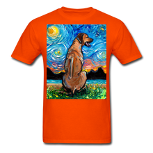 Load image into Gallery viewer, Rhodesian Ridgeback Night Unisex Classic T-Shirt - orange