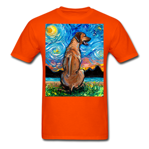 Rhodesian Ridgeback Night Unisex Classic T-Shirt - orange