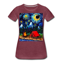 Load image into Gallery viewer, Off The Beaten Path Women's Premium T-Shirt - heather burgundy