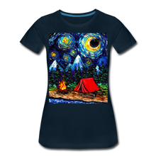 Load image into Gallery viewer, Off The Beaten Path Women's Premium T-Shirt - deep navy