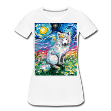 Load image into Gallery viewer, Samoyed Primrose Night Women's Premium T-Shirt - white