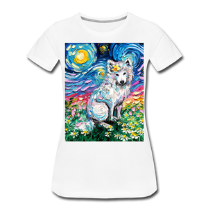 Samoyed Primrose Night Women's Premium T-Shirt - white
