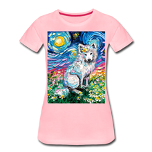 Load image into Gallery viewer, Samoyed Primrose Night Women's Premium T-Shirt - pink