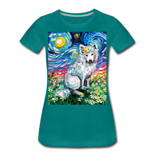 Load image into Gallery viewer, Samoyed Primrose Night Women's Premium T-Shirt - teal