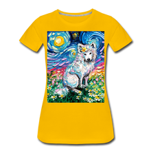 Load image into Gallery viewer, Samoyed Primrose Night Women's Premium T-Shirt - sun yellow