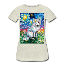 Load image into Gallery viewer, Samoyed Primrose Night Women's Premium T-Shirt - heather oatmeal