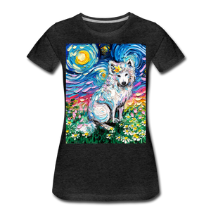 Samoyed Primrose Night Women's Premium T-Shirt - charcoal gray