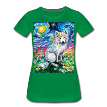 Load image into Gallery viewer, Samoyed Primrose Night Women's Premium T-Shirt - kelly green