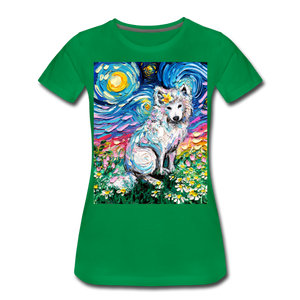 Samoyed Primrose Night Women's Premium T-Shirt - kelly green