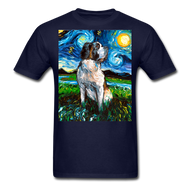 Saint Bernard Night Unisex Classic T-Shirt - navy