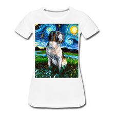 Load image into Gallery viewer, Saint Bernard Night Women's Premium T-Shirt - white