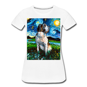 Saint Bernard Night Women's Premium T-Shirt - white