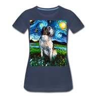 Saint Bernard Night Women's Premium T-Shirt - navy