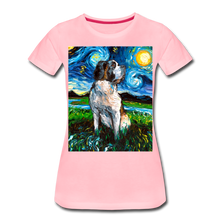 Load image into Gallery viewer, Saint Bernard Night Women's Premium T-Shirt - pink
