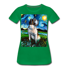 Load image into Gallery viewer, Saint Bernard Night Women's Premium T-Shirt - kelly green