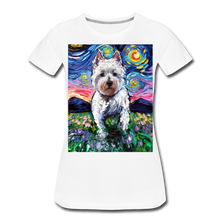 Load image into Gallery viewer, Westie Night 2 Women's Premium T-Shirt - white