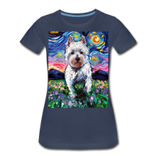 Load image into Gallery viewer, Westie Night 2 Women's Premium T-Shirt - navy