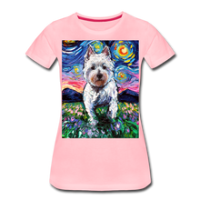 Load image into Gallery viewer, Westie Night 2 Women's Premium T-Shirt - pink