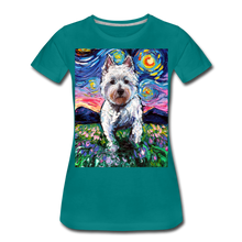 Load image into Gallery viewer, Westie Night 2 Women's Premium T-Shirt - teal