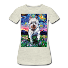 Load image into Gallery viewer, Westie Night 2 Women's Premium T-Shirt - heather oatmeal