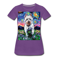 Westie Night 2 Women's Premium T-Shirt - purple