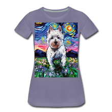 Load image into Gallery viewer, Westie Night 2 Women's Premium T-Shirt - washed violet
