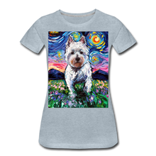 Load image into Gallery viewer, Westie Night 2 Women's Premium T-Shirt - heather ice blue