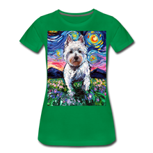 Load image into Gallery viewer, Westie Night 2 Women's Premium T-Shirt - kelly green