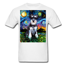 Load image into Gallery viewer, Schnauzer Night Unisex Classic T-Shirt - white