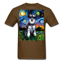 Load image into Gallery viewer, Schnauzer Night Unisex Classic T-Shirt - brown