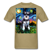 Load image into Gallery viewer, Schnauzer Night Unisex Classic T-Shirt - khaki