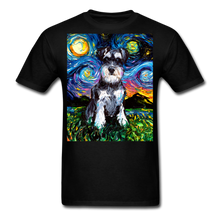 Load image into Gallery viewer, Schnauzer Night Unisex Classic T-Shirt - black