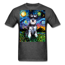 Load image into Gallery viewer, Schnauzer Night Unisex Classic T-Shirt - heather black